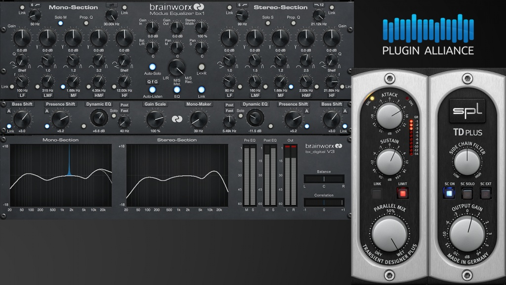 Plugin Alliance unveil Brainworx bx_digital V3 & SPL Transient
