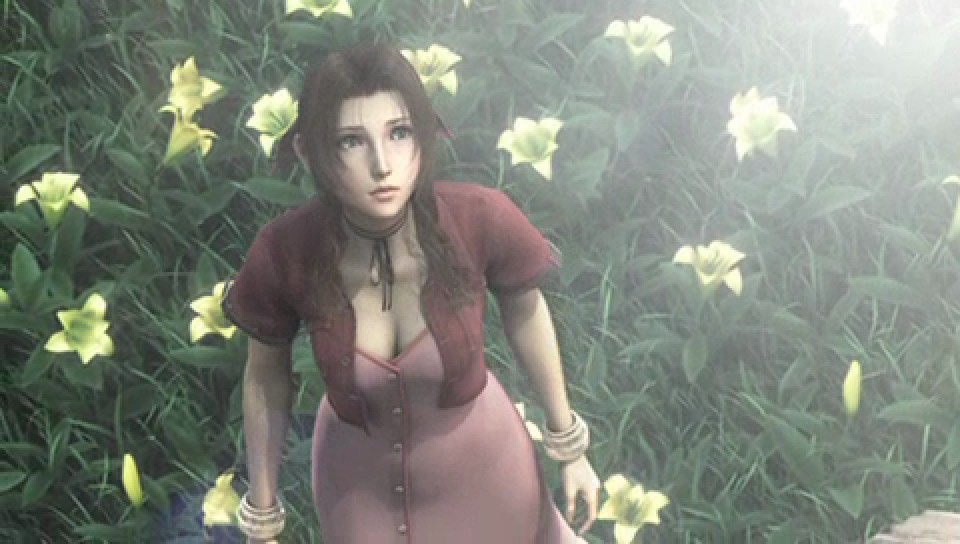 Aeris em Final Fantasy Crisis Core (crédito: divulgação)